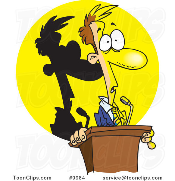 cartoon-guy-frozen-in-the-spotlight-at-a-podium-by-ron-leishman-9984