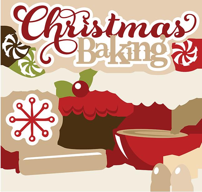 Christmas baking cookies