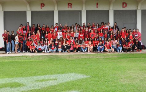 Photo by Carlos Johnson and Raeann Orono: Agua Fria students wore red in honor of Amanda on Monday Oct. 1