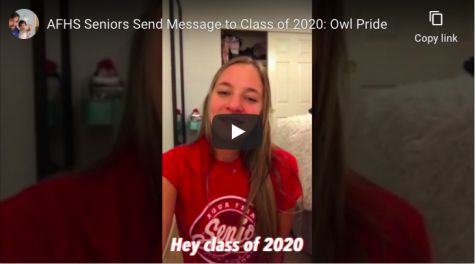 AFHS Seniors Send Message to Class of 2020: Owl Pride