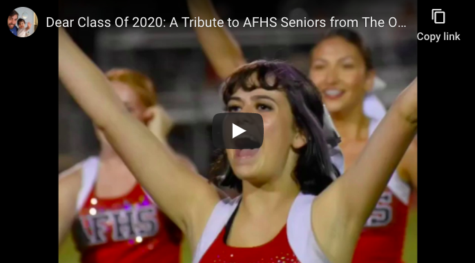 Dear Class Of 2020: A Tribute to AFHS Seniors from The Owl Family